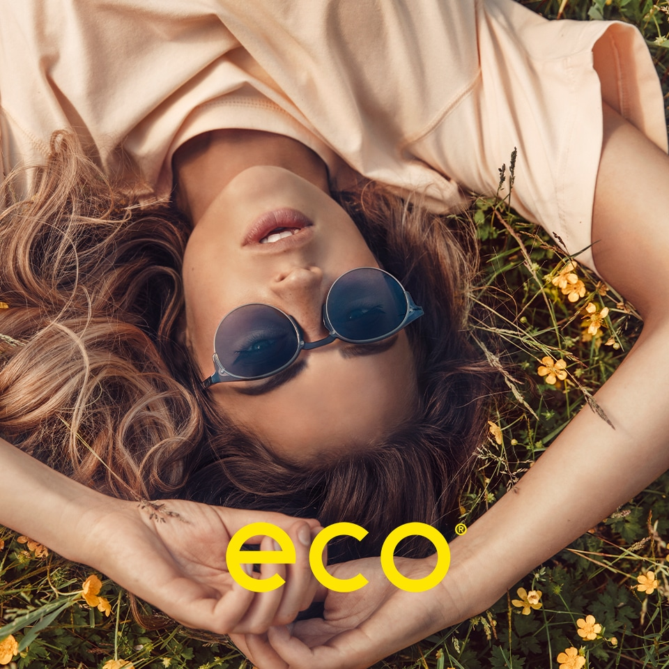 Eco eyewear is made from Recycled and Bio based materials.